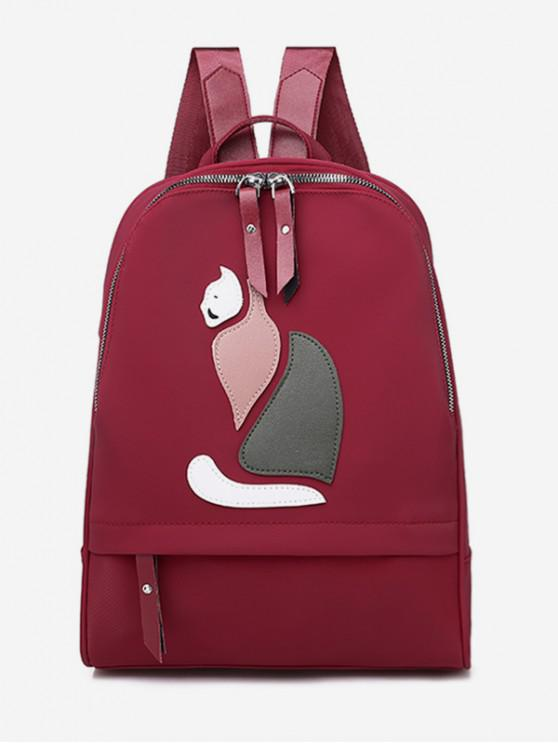 outfit Animal Print Travel Backpack - RED