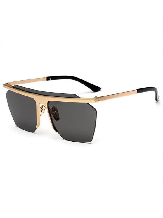 latest Irregular Integral Semi-rimless Sunglasses - BLACK