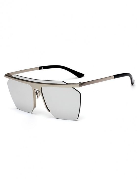trendy Irregular Integral Semi-rimless Sunglasses - SILVER