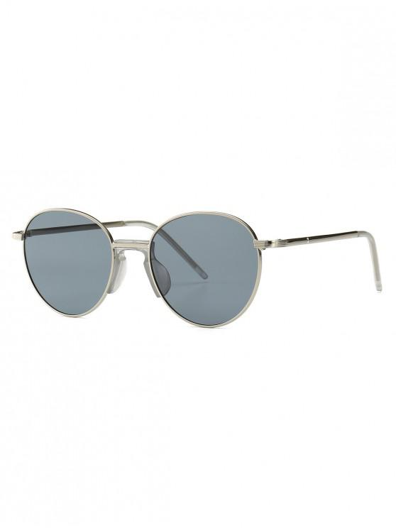 women Vintage Metal Round Sunglasses - PLATINUM