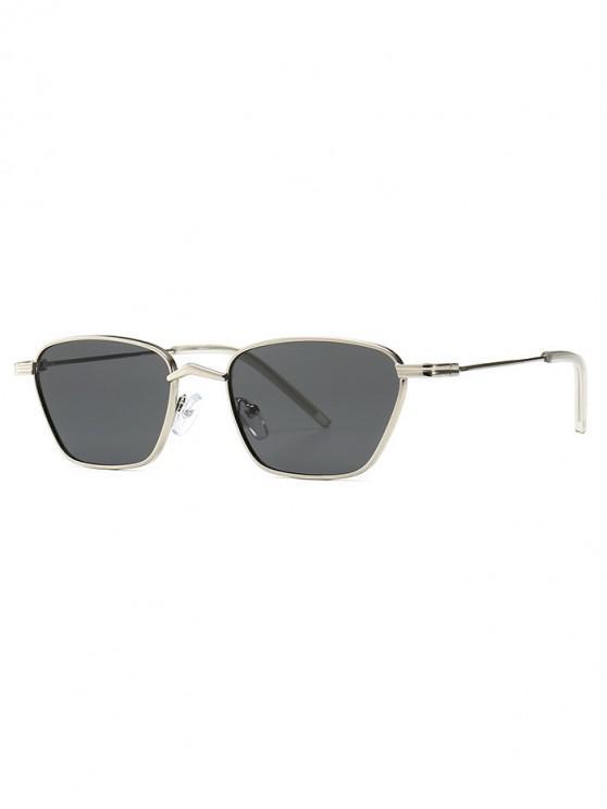 online Narrow Retro Driving Metal Sunglasses - GRAY