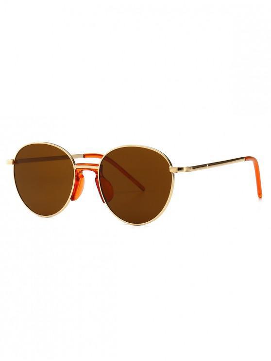 new Vintage Metal Round Sunglasses - BROWN