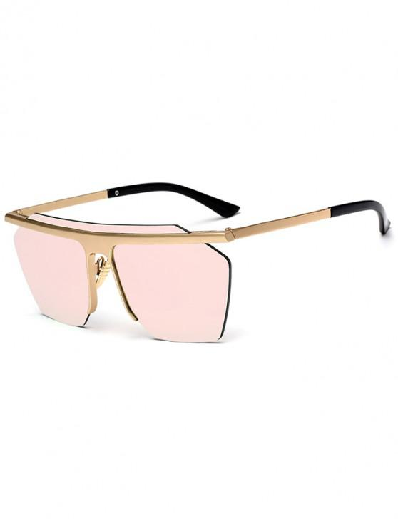 outfit Irregular Integral Semi-rimless Sunglasses - PINK