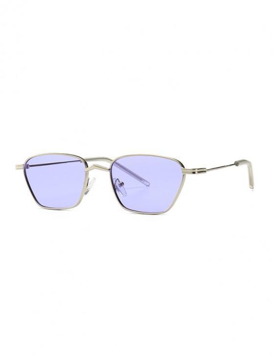 outfits Narrow Retro Driving Metal Sunglasses - SKY BLUE