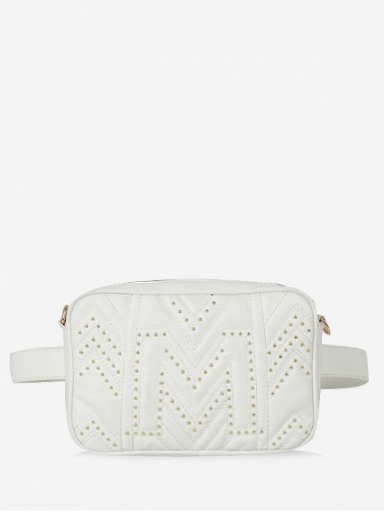 shop Quilted Square Waist Pack - WHITE