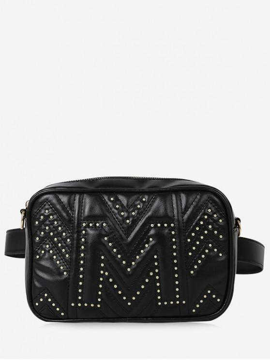 shops Quilted Square Waist Pack - BLACK
