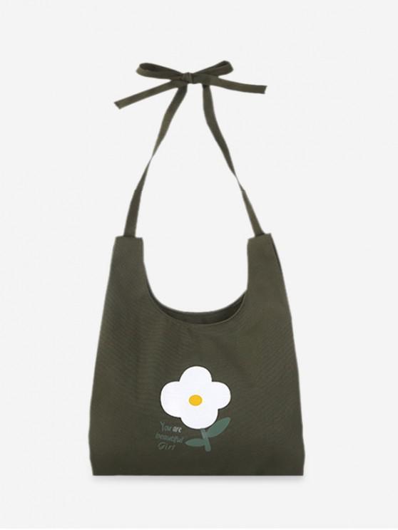 buy Fresh Style Floral Shoulder Bag - SEA GREEN