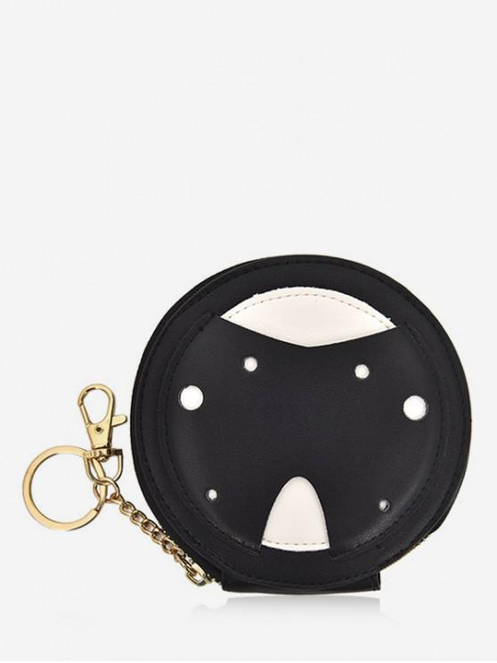 women's Cute Ladybug Coin Bag - BLACK