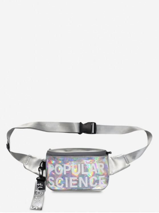 lady Casual Holographic Crossbody Bag - SILVER