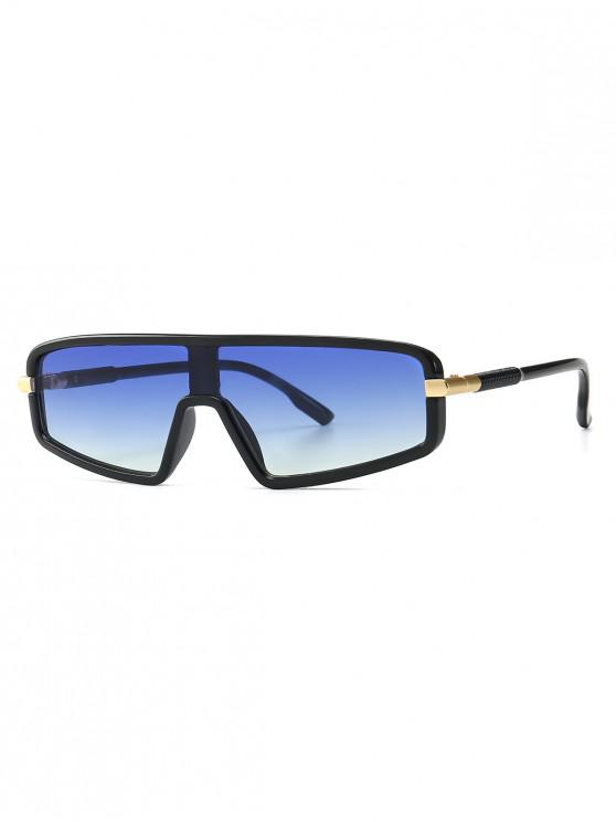 new Vintage Integral Irregular Sunglasses - BLUE