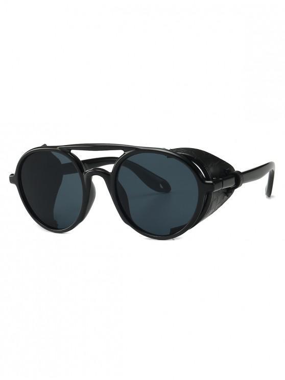 women's Imitated Snakeskin Wrap Round Sunglasses - BLACK