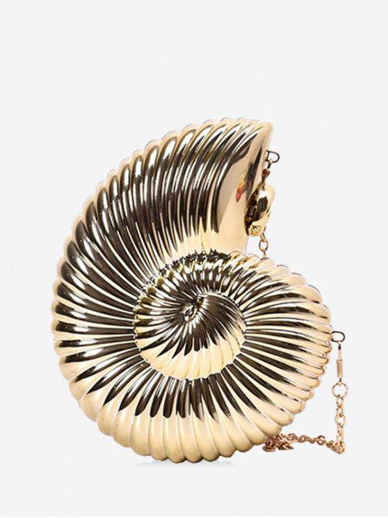 lady Conch Shaped Crossbody Bag - GOLD