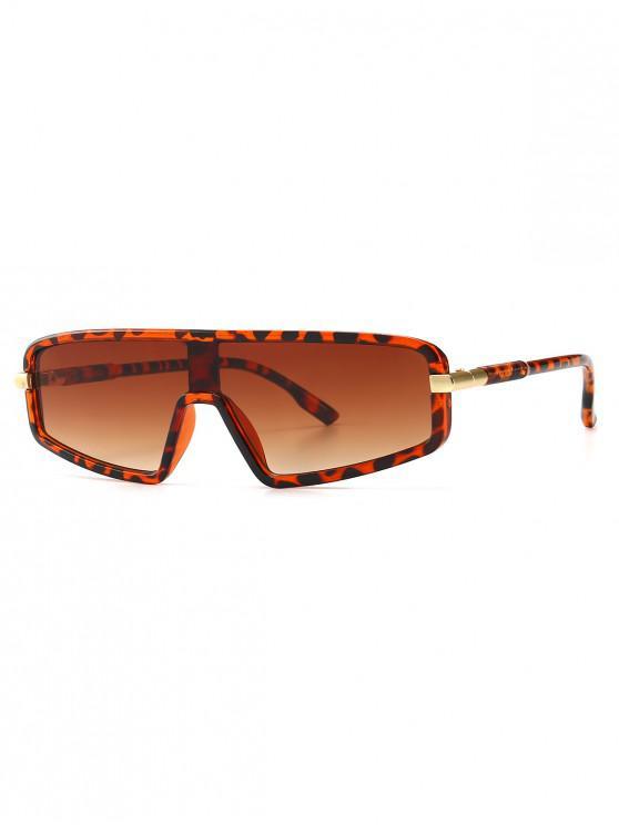 new Vintage Integral Irregular Sunglasses - LEOPARD