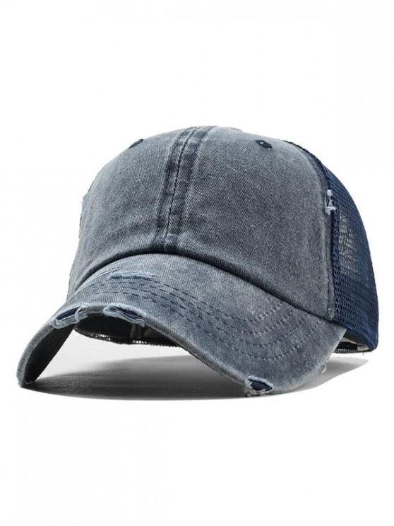 fancy Summer Polish Baseball Hat - CADETBLUE