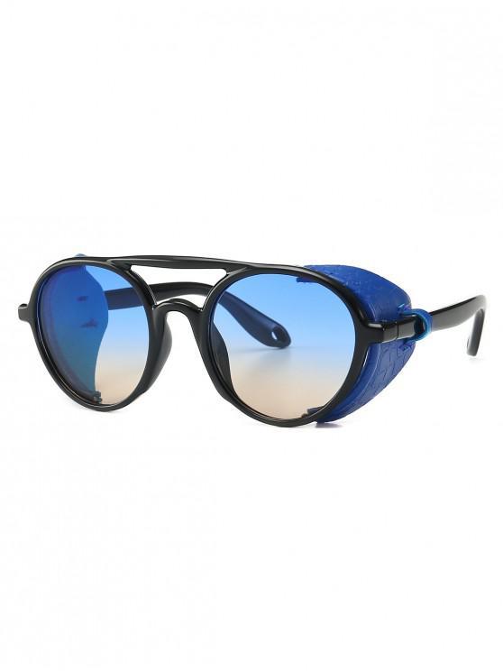 women's Imitated Snakeskin Wrap Round Sunglasses - BLUE