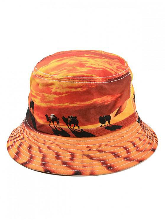 online Landscape Print Bucket Hat - YELLOW