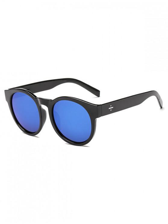 unique Anti UV Round Outdoor Sunglasses - BLUE REGULAR