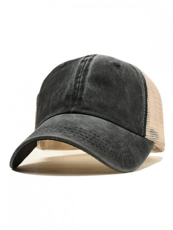 sale Casual Simple Style Baseball Hat - BLACK
