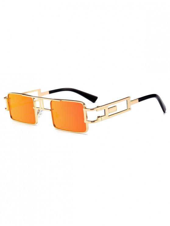 best Punk Hollow Leg Rectangle Sunglasses - ORANGE