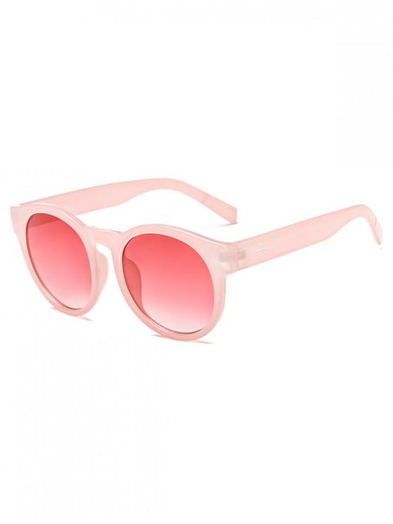 online Anti UV Round Outdoor Sunglasses - LIGHT PINK REGULAR