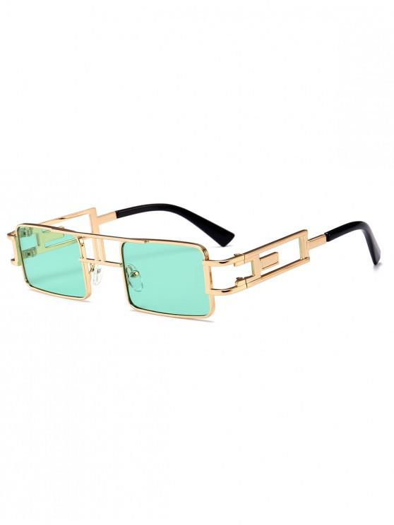 outfits Punk Hollow Leg Rectangle Sunglasses - GREEN