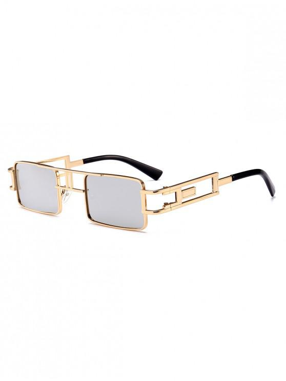 latest Punk Hollow Leg Rectangle Sunglasses - SILVER