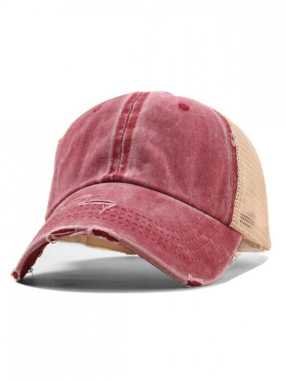 fashion Summer Polish Baseball Hat - RED WINE