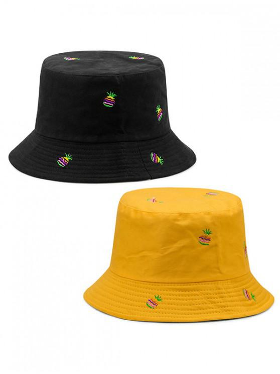 fancy Double-side Wearable Pineapple Fisherman Hat - YELLOW