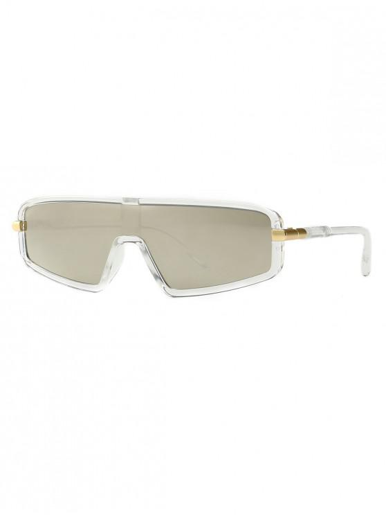 sale Vintage Integral Irregular Sunglasses - TRANSPARENT
