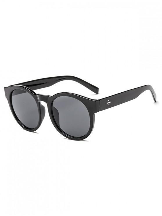 women Anti UV Round Outdoor Sunglasses - BLACK REGULAR
