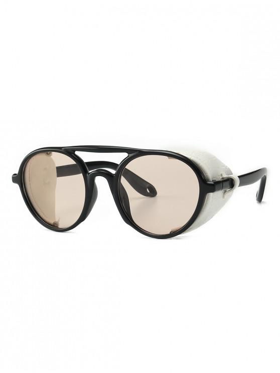 new Imitated Snakeskin Wrap Round Sunglasses - CHAMPAGNE GOLD