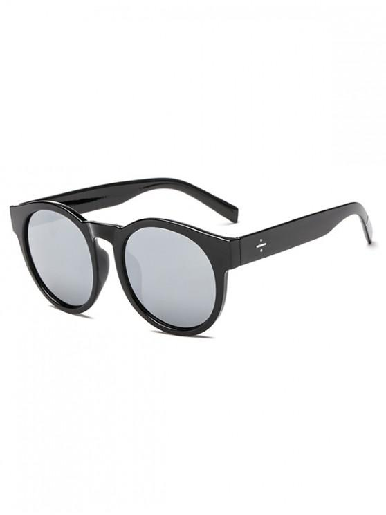 latest Anti UV Round Outdoor Sunglasses - SILVER REGULAR