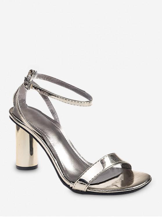 buy Open Toe High Heel Slingback Sandals - GOLD EU 37