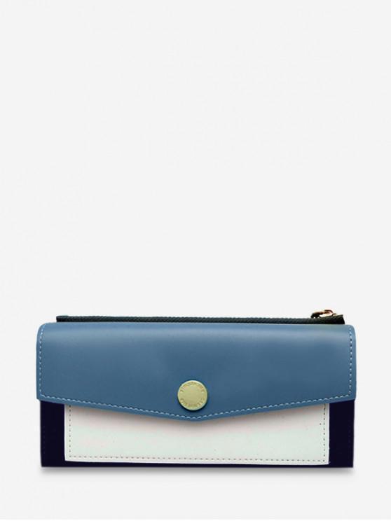 sale Color Block Envelope PU Wristlets - SKY BLUE