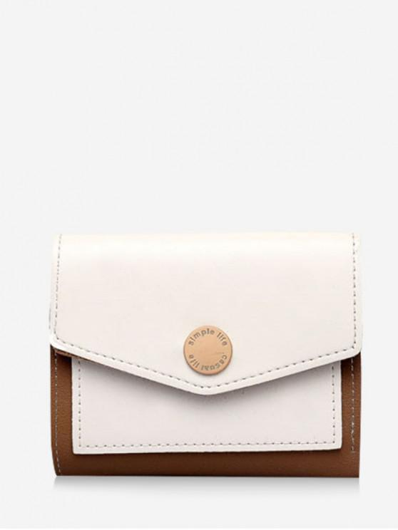 Portefeuille Enveloppée en Blocs de Couleurs - Blanc