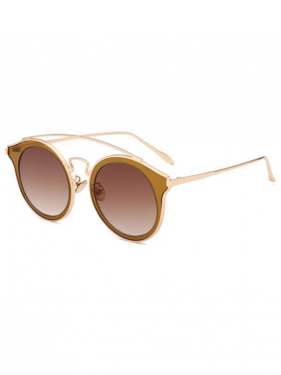 shop Arc Bar Metal Round Sunglasses - COFFEE