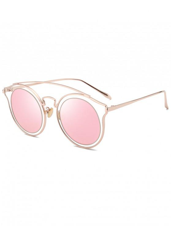 shops Arc Bar Metal Round Sunglasses - PINK