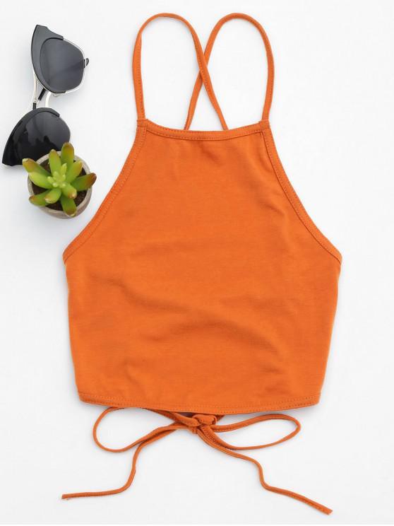 Geöffnetes, zurück geschnittenes Tanktop - Orange XL