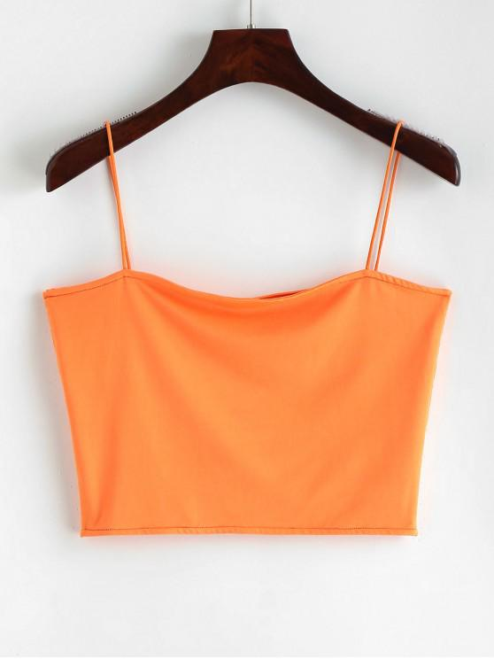 buy Spaghetti Strap Cropped Top - MANGO ORANGE S