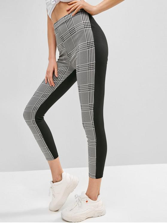 fashion Houndstooth Skinny Pants - MULTI-A M