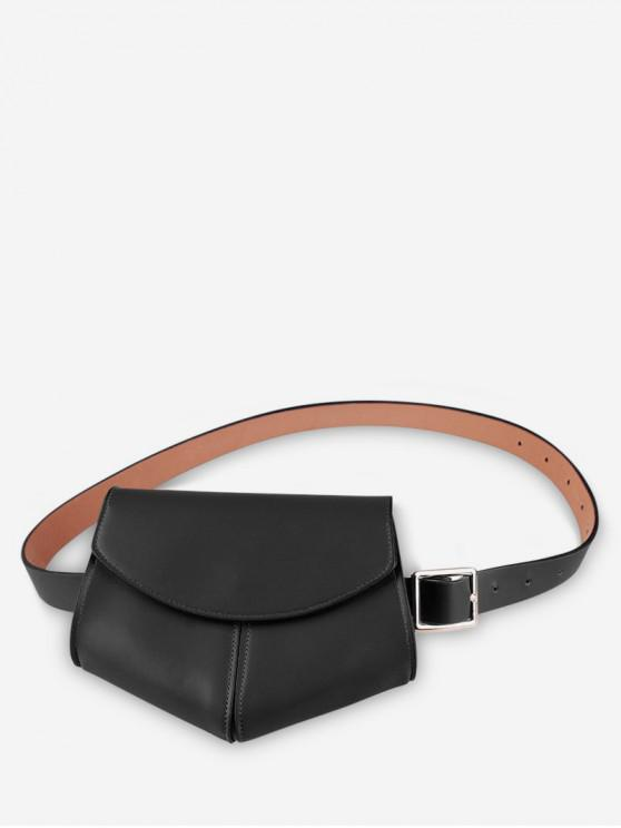 womens Irregular Shape Belt Bag - BLACK