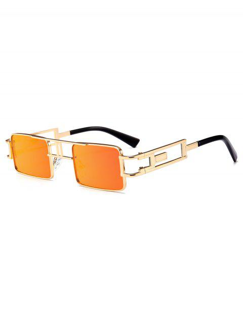 Lunettes de Soleil Rectangle Evidées Style Punk - Orange  Mobile