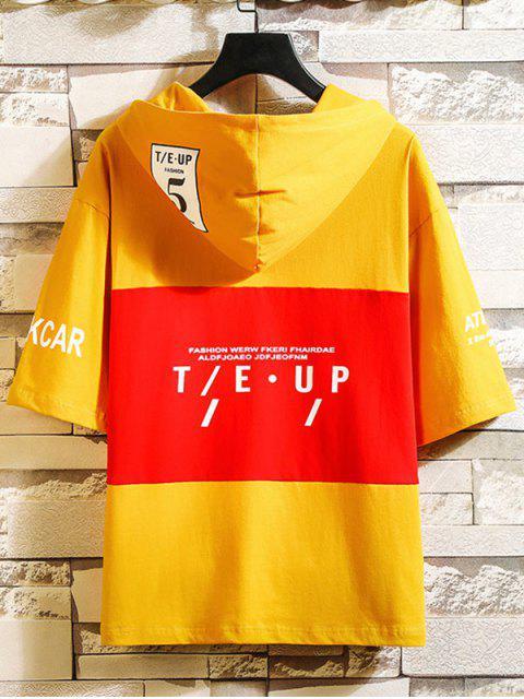 Camiseta estampada mangas cortas de ocio gráfico - Vara de Oro 2XL Mobile