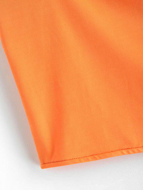 Top Recortada Tiras Delgadas - Mango Naranja M Mobile