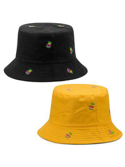 93007b10ec545 Double-side Wearable Pineapple Fisherman Hat - Yellow ...