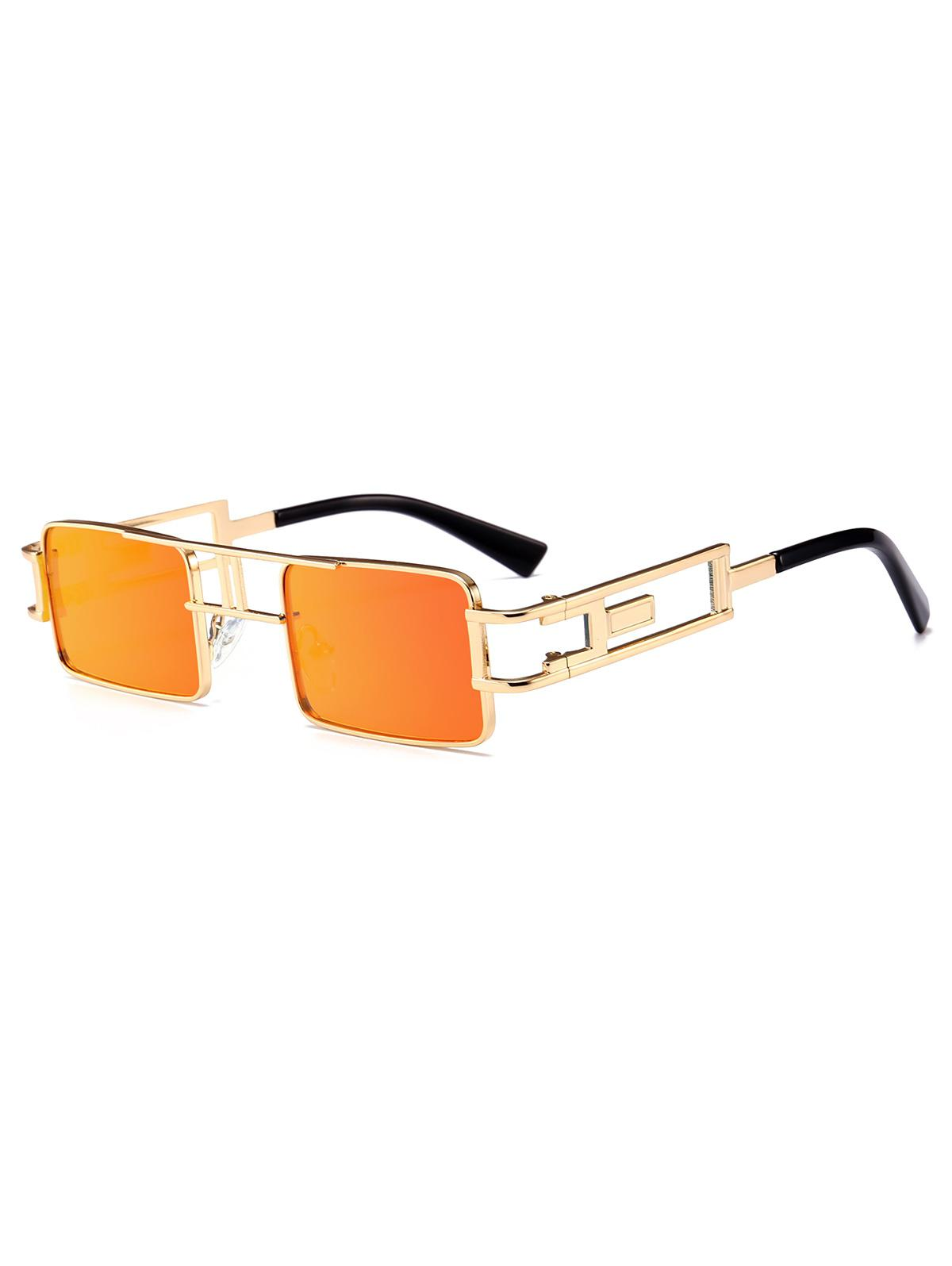 Punk Hollow Leg Rectangle Sunglasses