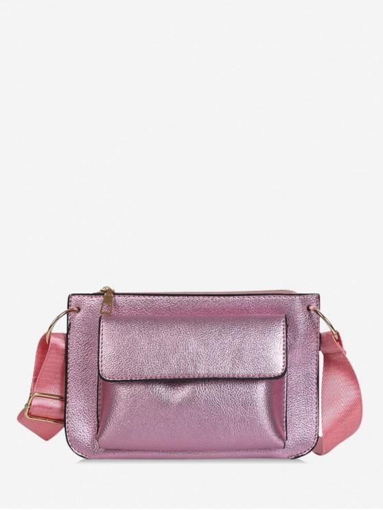 fashion Punk Style Square Crossbody Bag - PINK