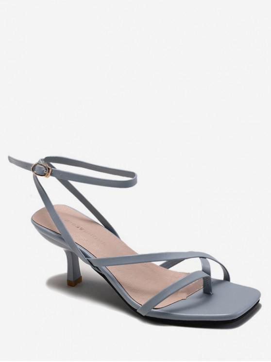 affordable Open Toe Strappy Stiletto Heel Sandals - BLUE IVY EU 36