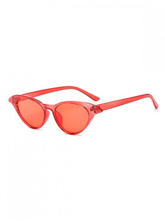 online Irregular Anti UV Egg Shape Sunglasses - CHESTNUT RED REGULAR