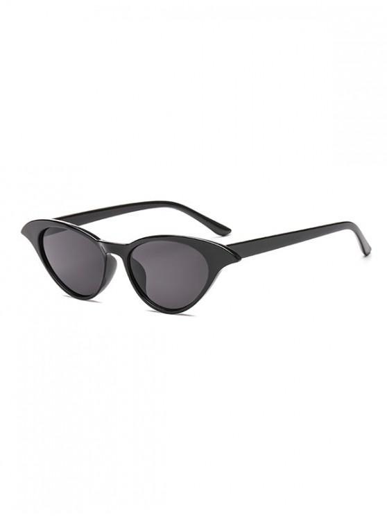 shop Irregular Anti UV Egg Shape Sunglasses - BLACK REGULAR